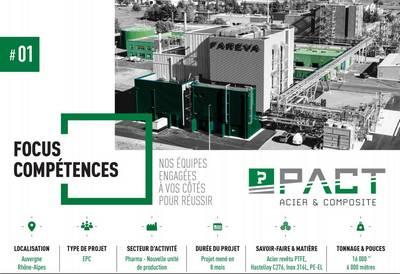 Tuyauterie industrielle secteur pharmarcie, tuyau acier revêtu PTFE